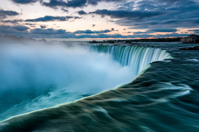 influencing for impact intense waterfall